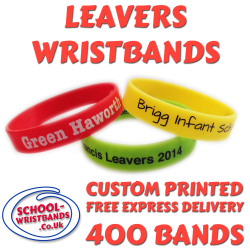 SCHOOL LEAVERS WRISTBANDS X 400 pcs