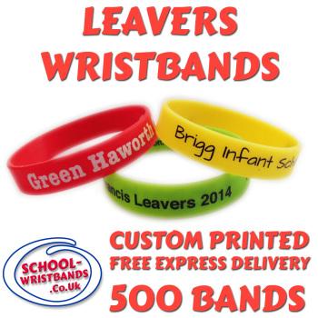SCHOOL LEAVERS WRISTBANDS X 500 pcs