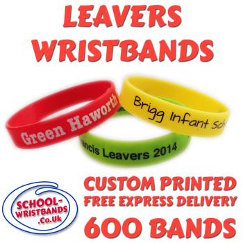 SCHOOL LEAVERS WRISTBANDS X 600 pcs