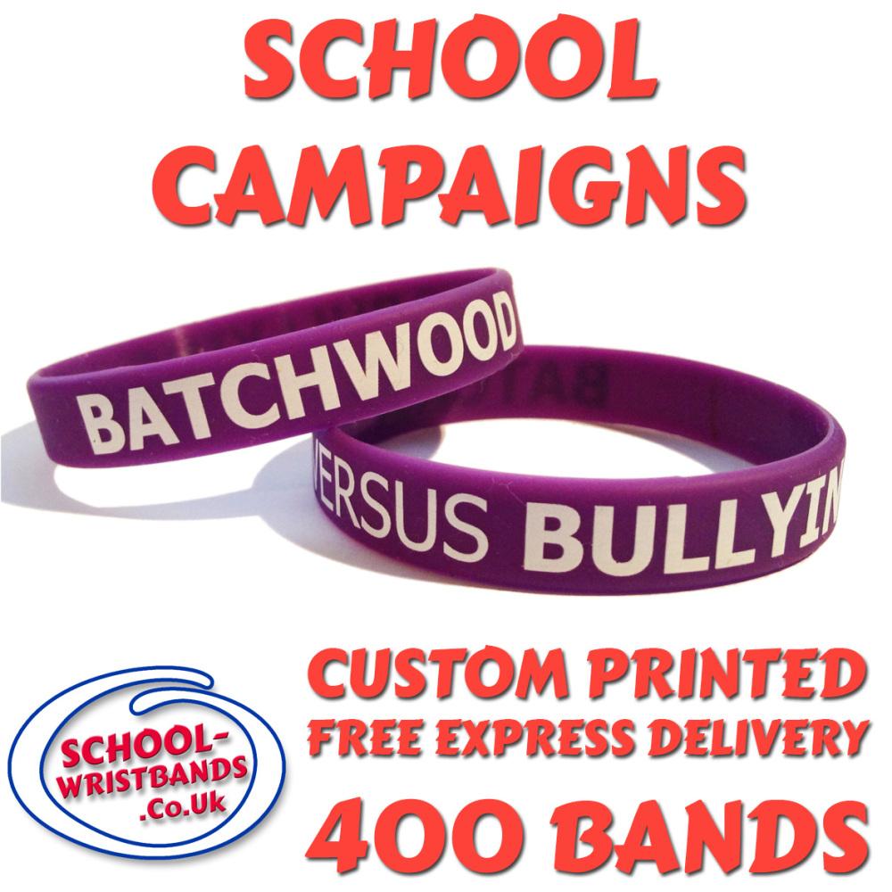 SCHOOL CAMPAIGN WRISTBANDS X 400 pcs