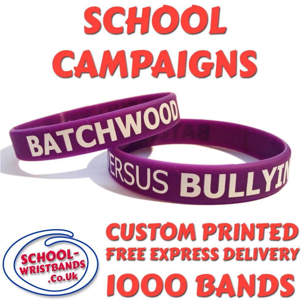 SCHOOL CAMPAIGN WRISTBANDS X 1000 pcs