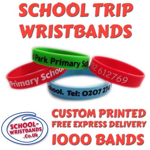 SCHOOL TRIP WRISTBANDS X 1000 pcs