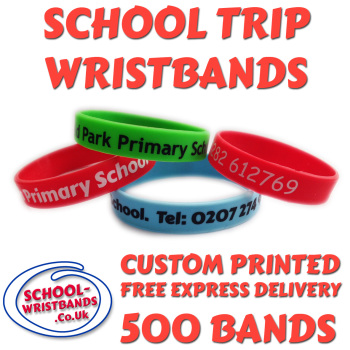 SCHOOL TRIP WRISTBANDS X 500 pcs