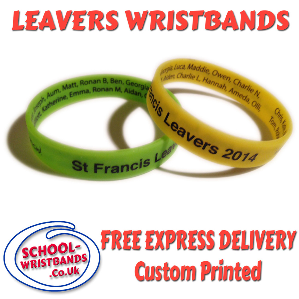 school leavers wristbands