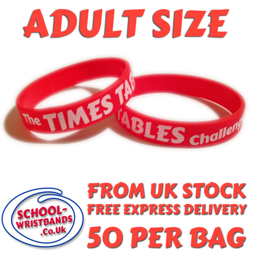 TIMES TABLES CHALLENGE - ADULT SIZE - Includes express delivery & VAT!