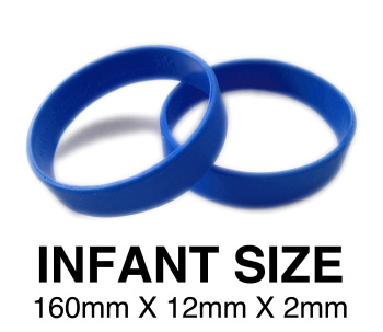 DINNER BANDS - ROYAL BLUE - INFANT X 50 pcs. Includes express delivery.