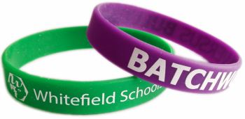 2. adult size school wristbands - www.promo-bands.co.uk