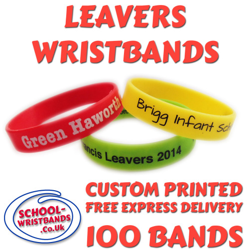 SCHOOL LEAVERS WRISTBANDS X 100 pcs