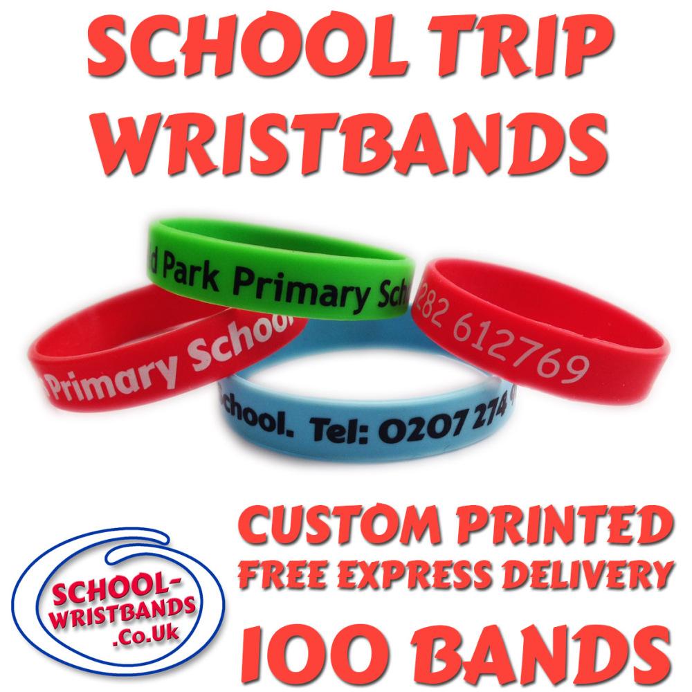 SCHOOL TRIP WRISTBANDS X 100 pcs