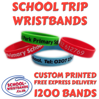 SCHOOL TRIP WRISTBANDS X 1200 pcs