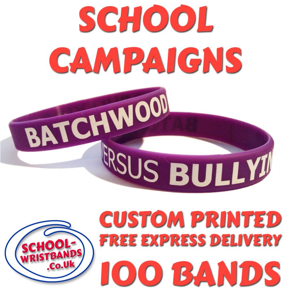 SCHOOL CAMPAIGN WRISTBANDS X 100 pcs