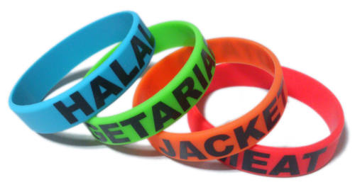 *Printed School Lunch Wristbands - by www.School-Wristbands.co.uk