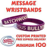**SCHOOL MESSAGE WRISTBANDS - www.School-Wristbands.co.uk