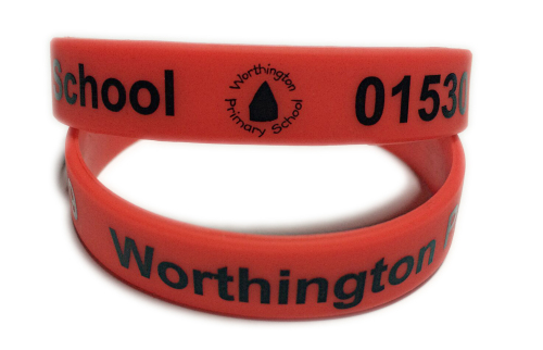 worthington primary school wristbands by www.school-wristbands.co.uk