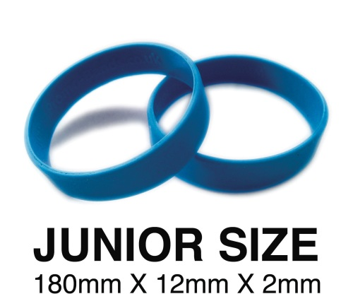 DINNER BANDS - MID BLUE - JUNIOR  X 50 pcs. Includes express delivery & VAT