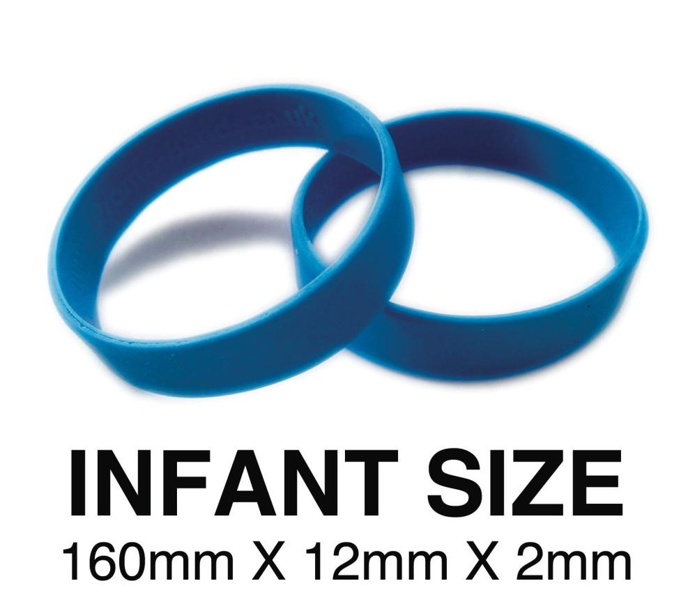 DINNER BANDS - MID BLUE - INFANT  X 50 pcs. Includes express delivery & VAT