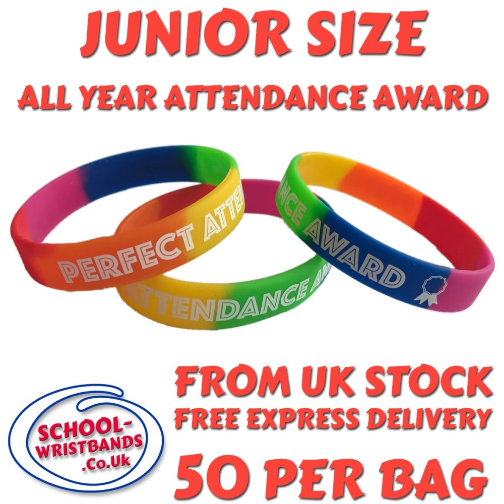 ATTENDANCE - JUNIOR SIZE - RAINBOW - Includes express delivery!