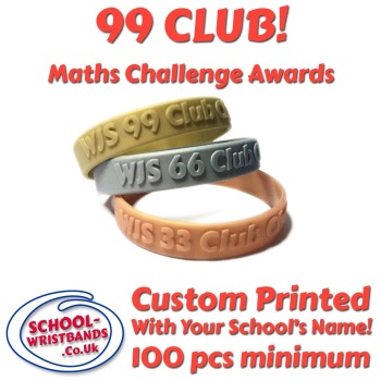 '99 CLUB' - MATHS CHALLENGE - INFANT or JUNIOR SIZE - Includes express delivery!