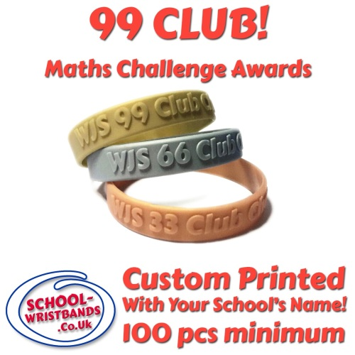 '99 CLUB' - MATHS CHALLENGE - INFANT or JUNIOR SIZE - Includes express deli