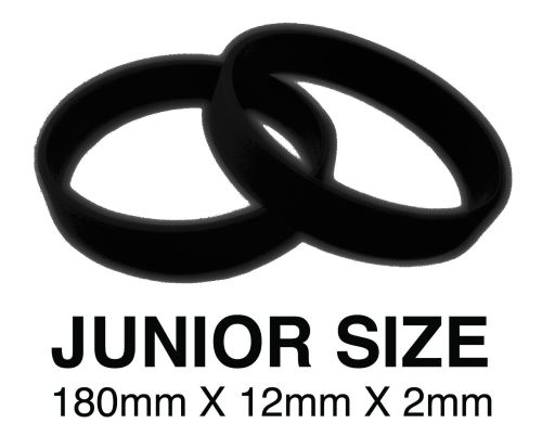 DINNER BANDS - BLACK - JUNIOR  X 50 pcs. Includes express delivery.