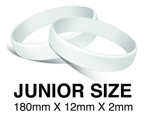 DINNER BANDS - WHITE - JUNIOR  X 50 pcs. Includes express delivery.