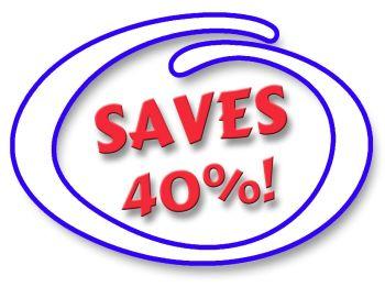 SAVES 40%