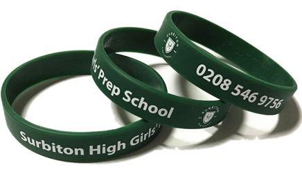 Surbiton Girls Prep School 180mm x 12mm - Custom Printed School Wristbands