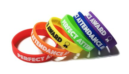 Tower Bridge Primary Perfect Attendance Wristbands - Custom Printed School