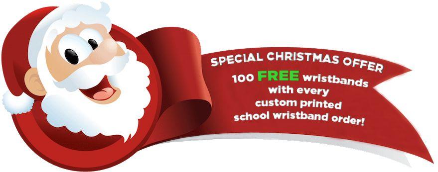 School Wristbands Custom Printed Offer
