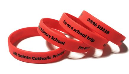 All Saints Catholic Primary School - Custom Printed School Trip Wristbands