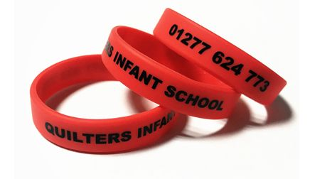 Quilters Infant School - Custom Printed School Trip Wristbands by School-Wr