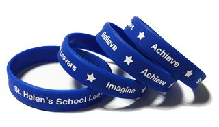 St. Helens School Custom Printed School Wristbands by School-Wristbands.co