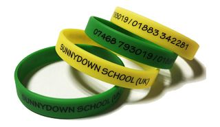 SunnyDown School Custom Printed School Wristbands by School-Wristbands.co.u