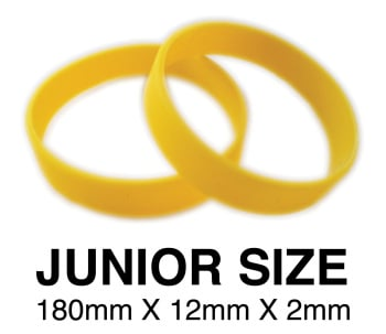 DINNER BANDS - YELLOW - JUNIOR  X 50 pcs. Includes express delivery.