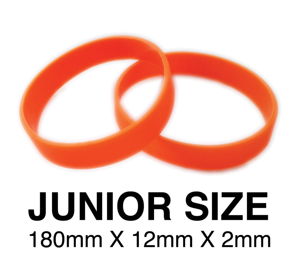 DINNER BANDS - ORANGE - JUNIOR. Includes express delivery & VAT.