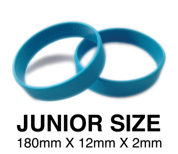 DINNER BANDS - LIGHT BLUE - JUNIOR  X 50 pcs. Includes express delivery.