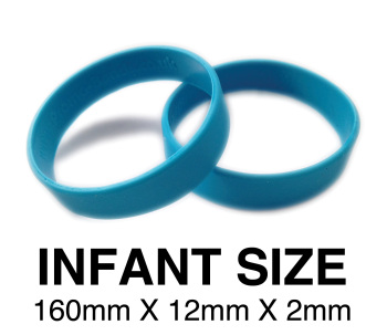 DINNER BANDS - LIGHT BLUE - INFANT X 50 pcs. Includes express delivery.