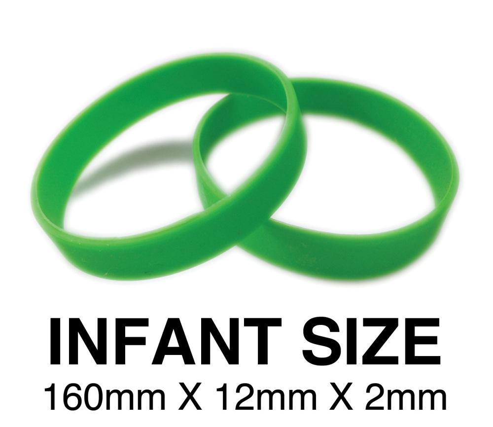 DINNER BANDS - GREEN - INFANT. Includes express delivery & VAT.