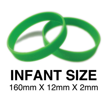DINNER BANDS - GREEN - INFANT  X 50 pcs. Includes express delivery.