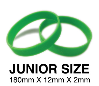 DINNER BANDS - GREEN - JUNIOR  X 50 pcs. Includes express delivery.