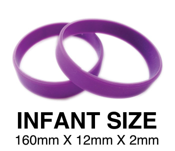 DINNER BANDS - PURPLE - INFANT  X 50 pcs. Includes express delivery.