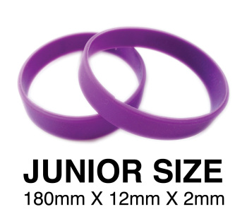 DINNER BANDS - PURPLE - JUNIOR  X 50 pcs. Includes express delivery.