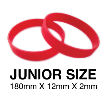 DINNER BANDS - RED - JUNIOR  X 50 pcs. Includes express delivery.