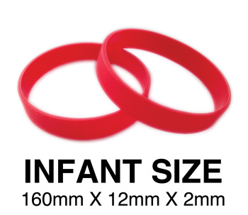 DINNER BANDS - RED - INFANT  X 50 pcs. Includes express delivery.