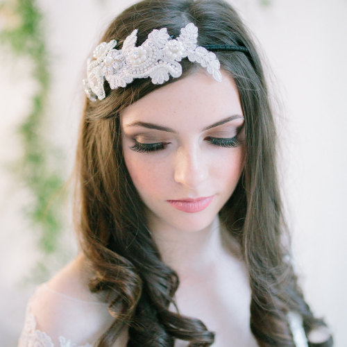Clara Lace Headpiece