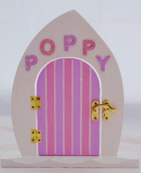 Lilac and Pink Fairy Door With Name Of Your Choice
