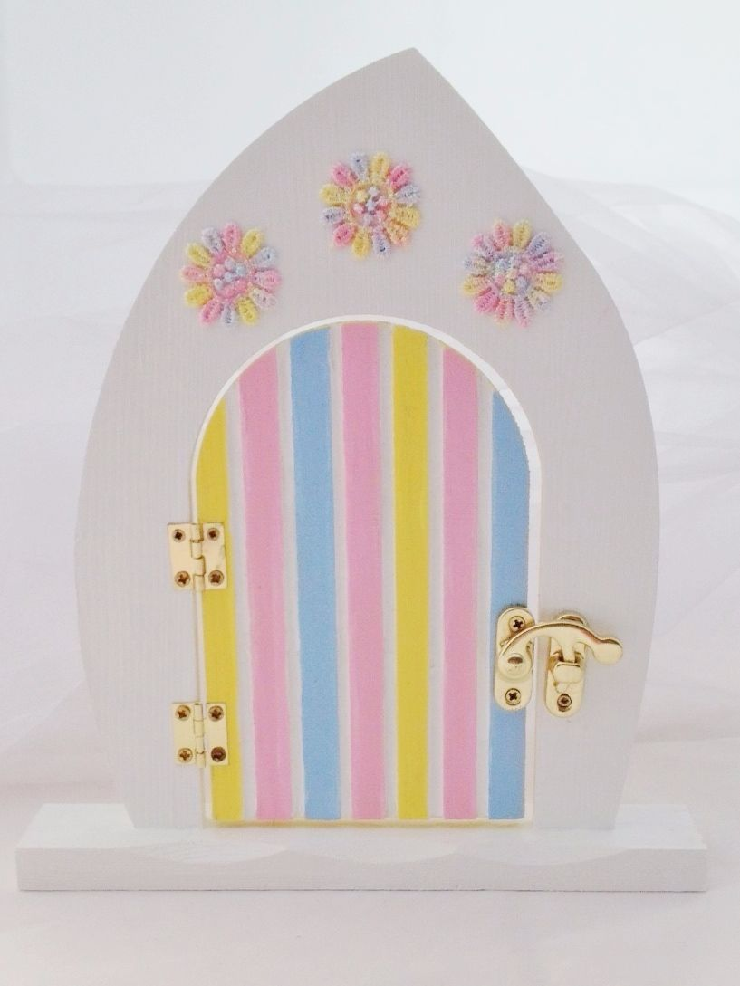PINK, LEMON & BLUE FAIRY DOOR
