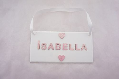 Name Plaque - Hearts