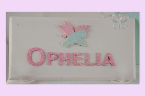 Unicorn Name Plaque