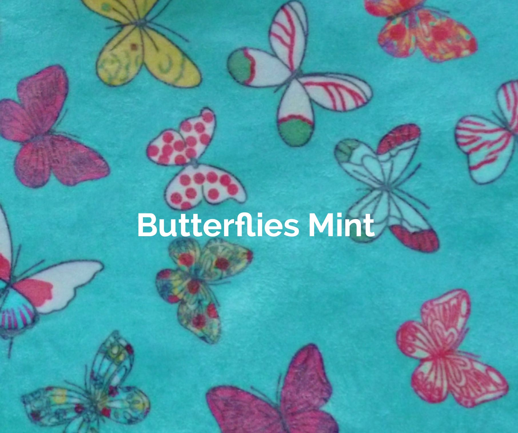 Butterflies - Mint fabric of a V-Eco Food Wrap